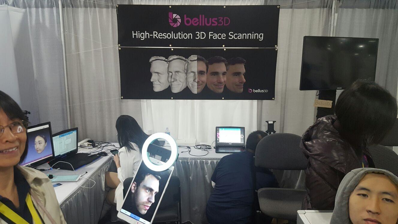 Bellus3D, 3D sken obličeje; CES 2017