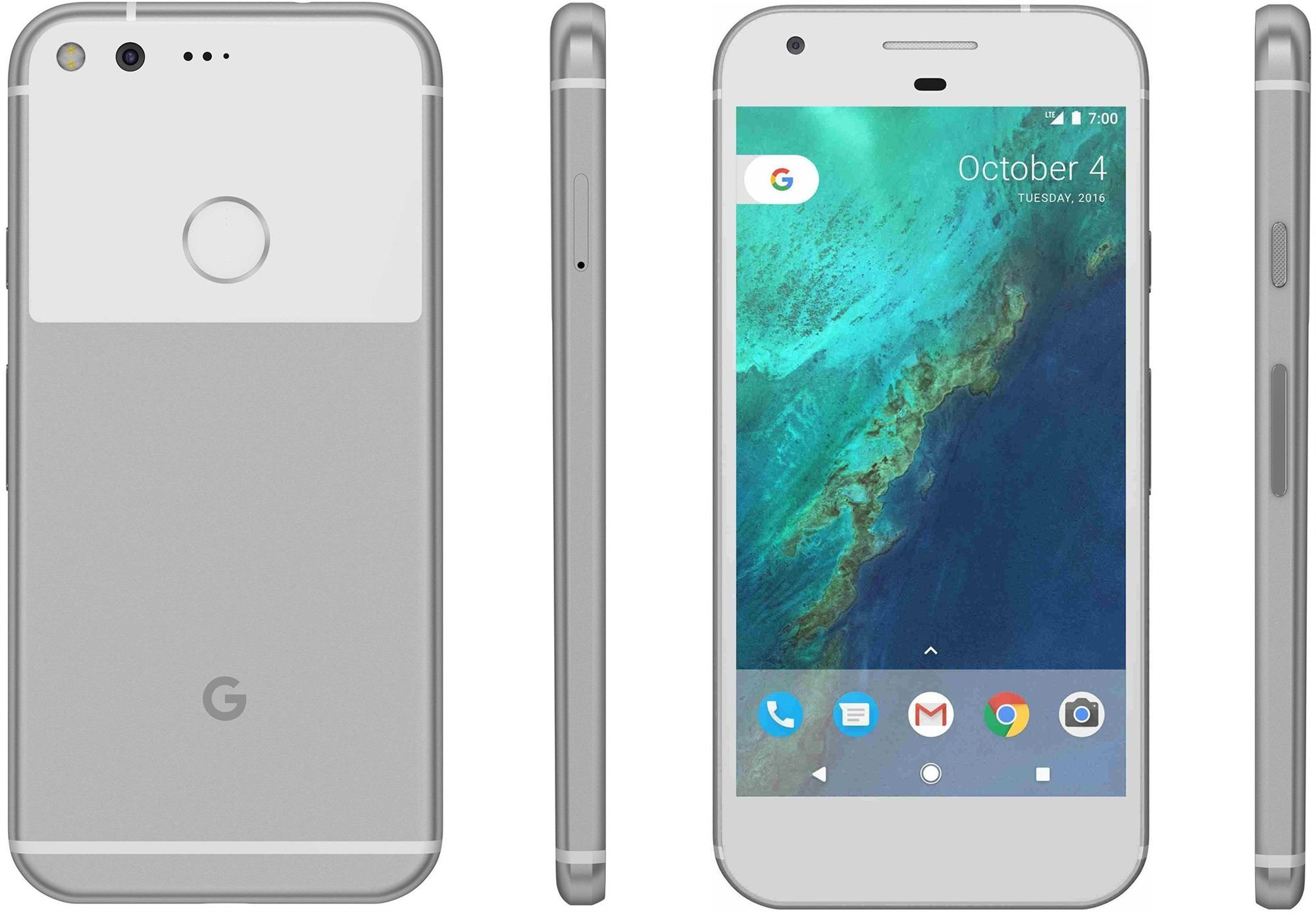 Google Pixel - stříbrná varianta