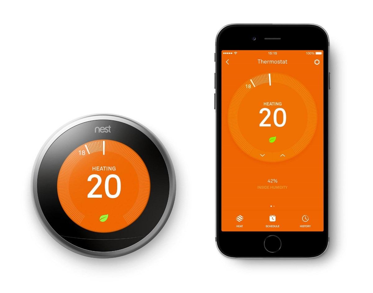 Chytrý termostat Google Nest 3rd gen aplikace iOS Android