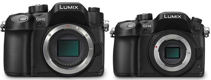 Panasonic Lumix DMC-GH5 vs GH4 CES 2017