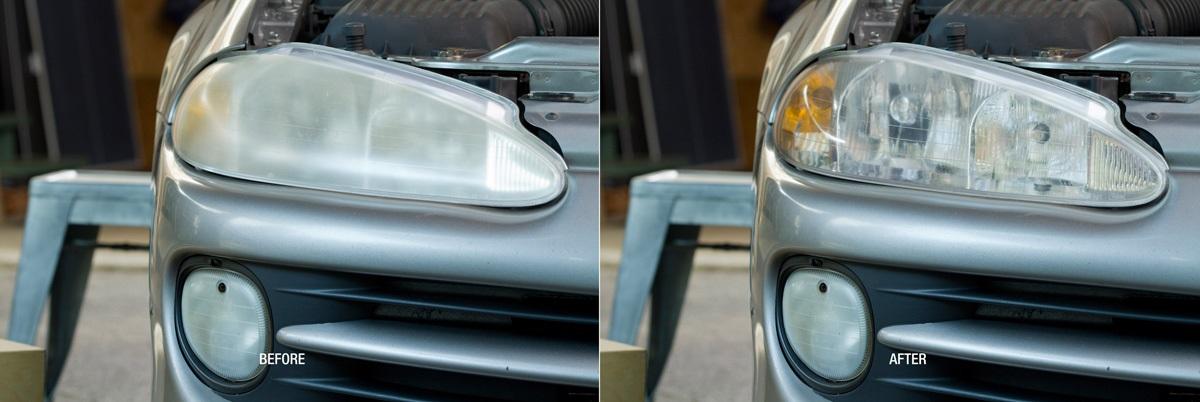 Renovace zašlých autosvětel