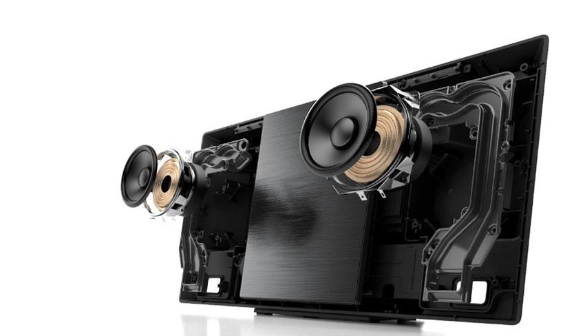 Kroucené basreflexy mikrosystému Panasonic SC-HC2020