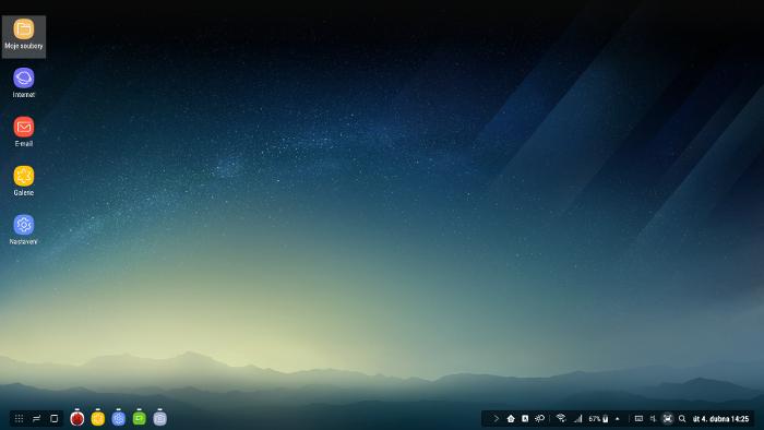 Samsung DeX, screenshot plochy