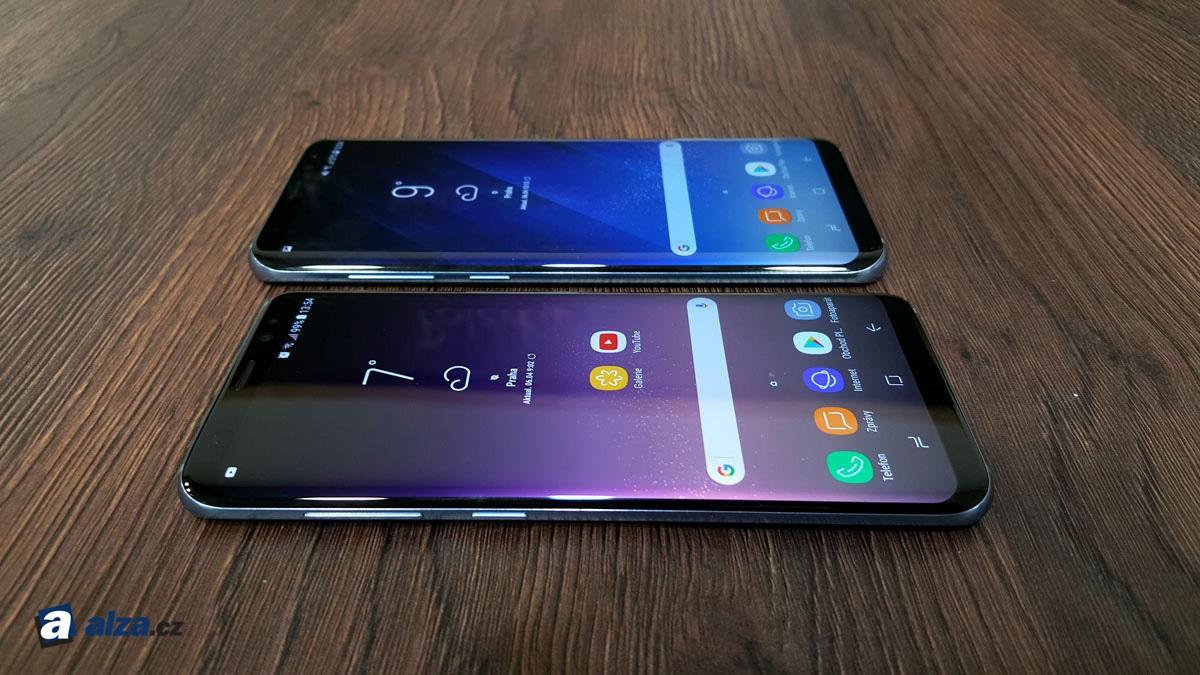 Samsung Galaxy S8 a S8+, srovnání velikosti