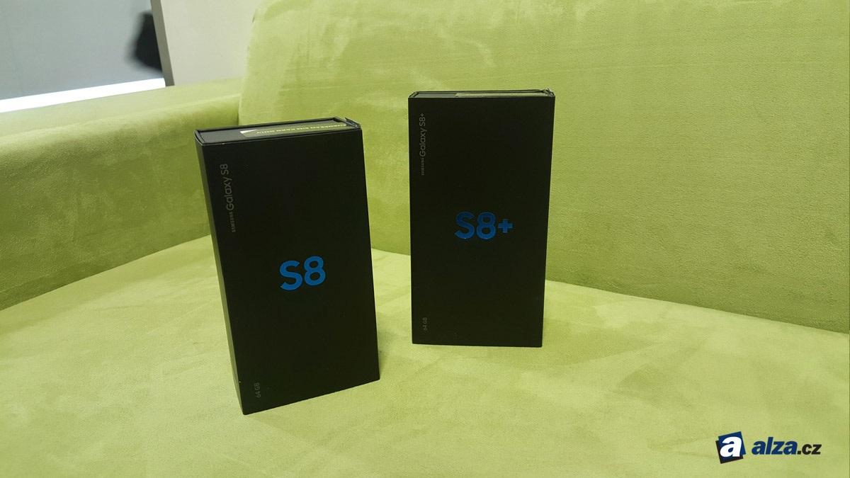 Samsung Galaxy S8 a S8+, balení.