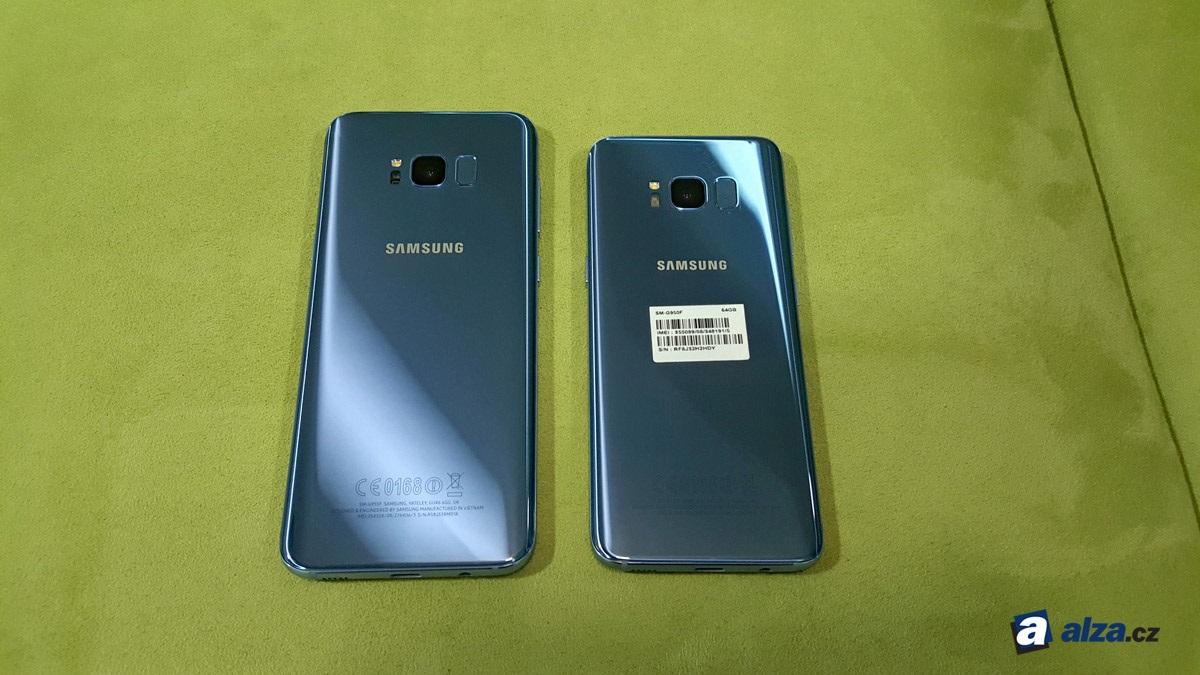 Samsung Galaxy S8 a S8+, zadní strana
