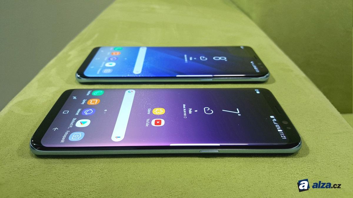 Samsung Galaxy S8 a S8+, displej