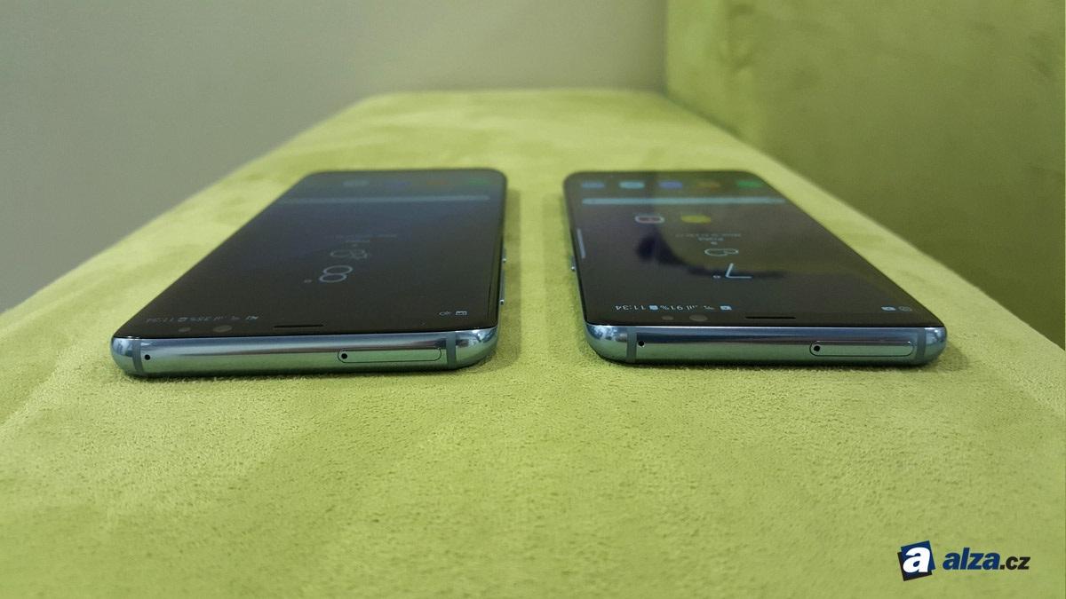 Samsung Galaxy S8 a S8+, horní hrana
