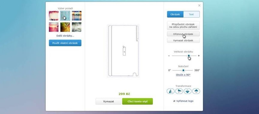 polep pro notebooky, tablety, mobilní telefony, vlastní fotografie a texty