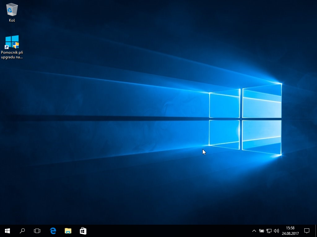 Dvanácté okno instalace Windows 10