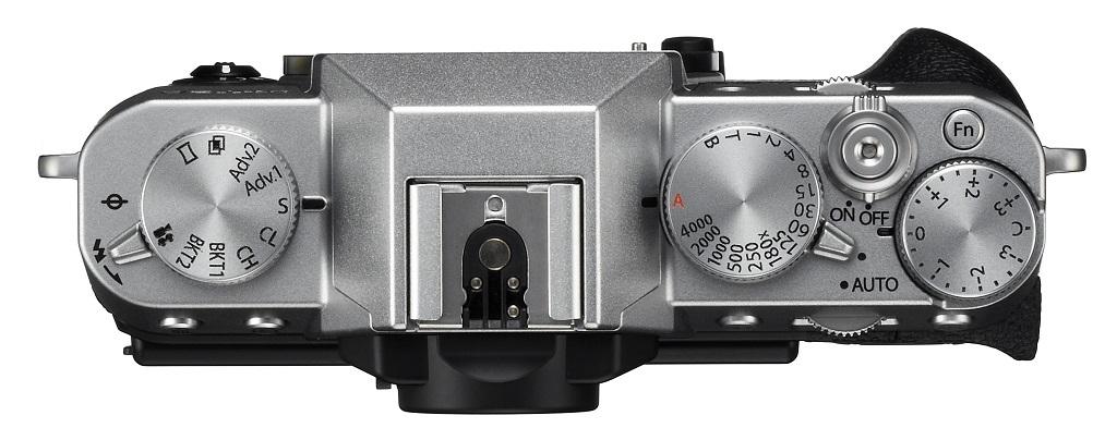 Fujifilm X-T20 stříbrná sáňky pro blesk