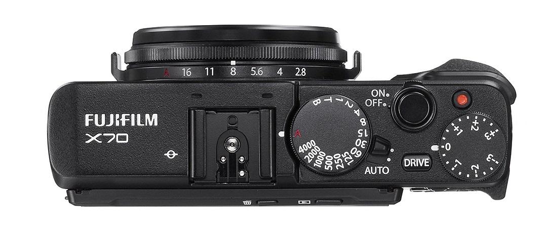 Fujifilm X70; ovládání
