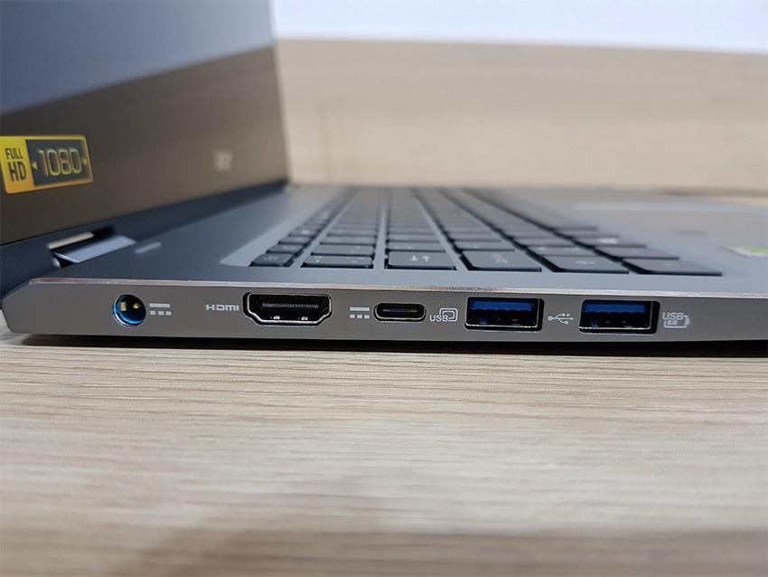 Acer Spin 5 – levá strana