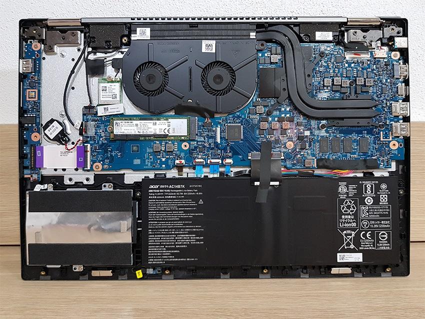Acer Spin 5 – komponenty