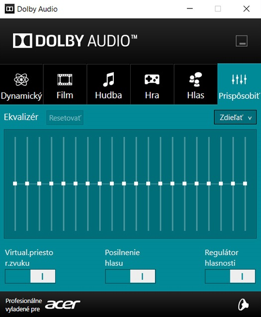 Acer Spin 5 – Dolby Audio