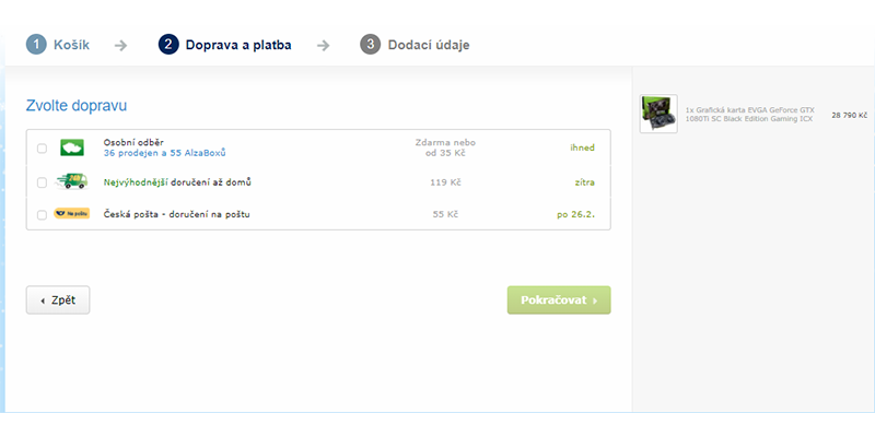 Alza.cz; platba litecoinem
