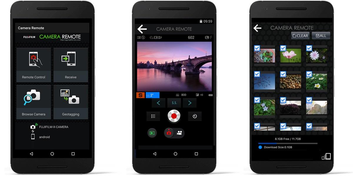 Fujifilm X70; wifi; aplikace v mobilu
