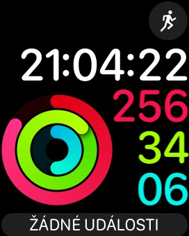 Apple Watch 3 GPS, screenshot, aktivita