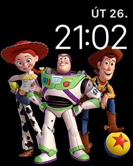 Apple Watch 3 GPS, screenshot, ciferník Toy Story