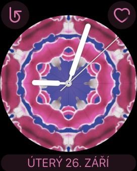 Apple Watch 3 GPS, screenshot, ciferník Kaleidoskop