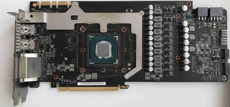 ASUS STRIX GTX 1080 bez chladiče