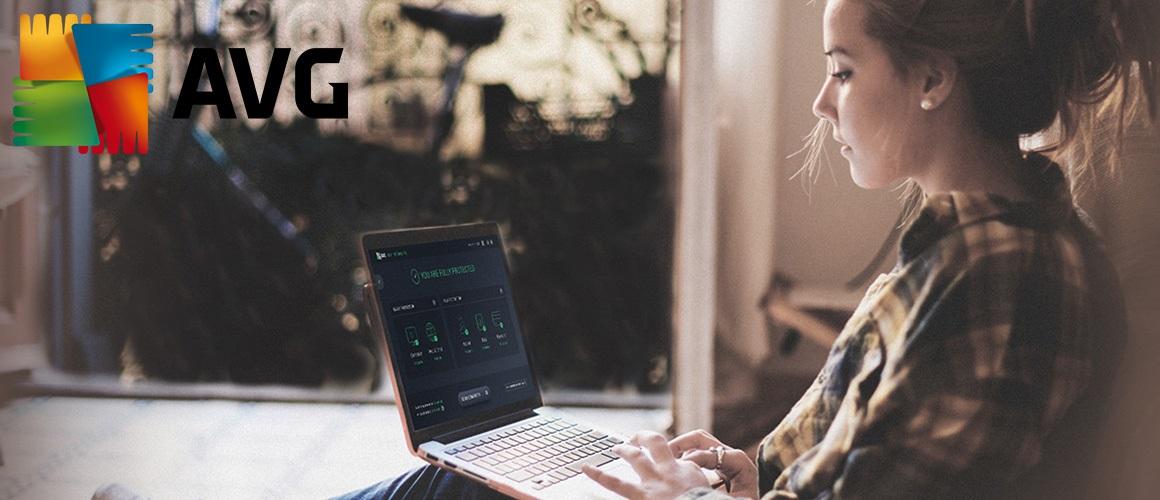 AVG, antivirový program, počítač a žena