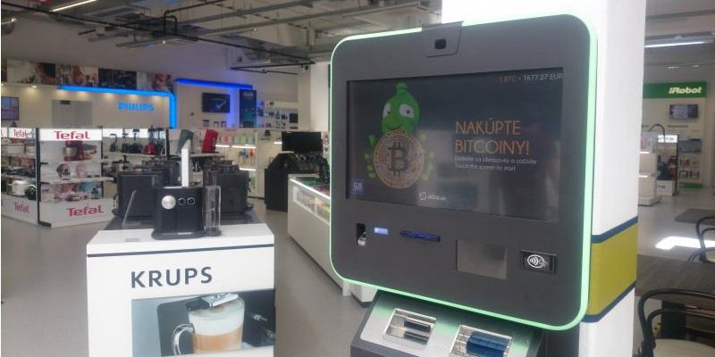 alza; bitcoin automat; Bratislava