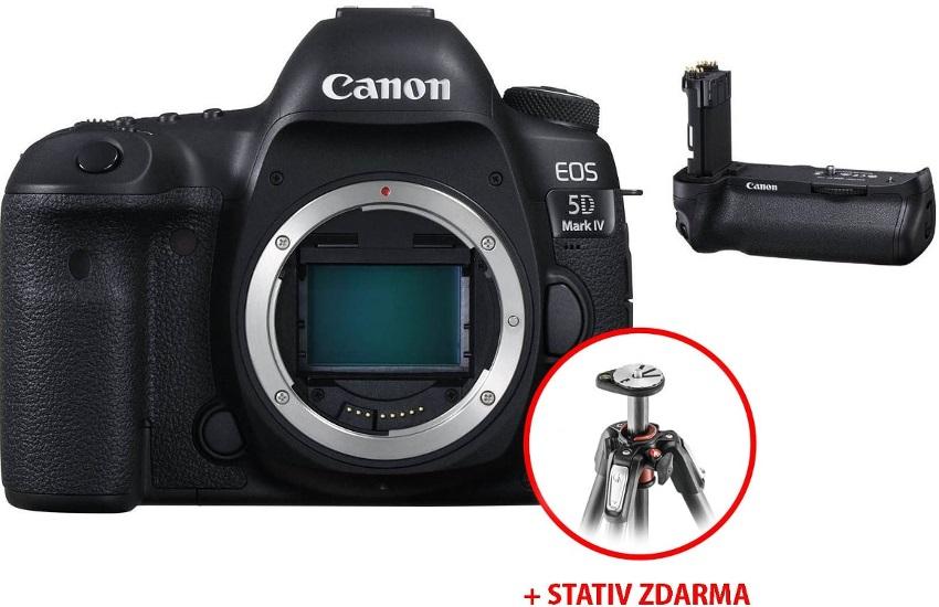 Canon EOS a stativ Manfotto zdarma