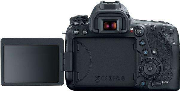 Canon EOS 6D Mark II fotoaparát; displej