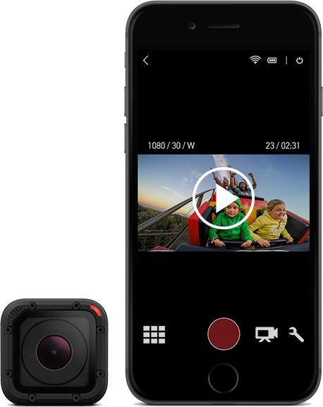 GoPro; smartphone