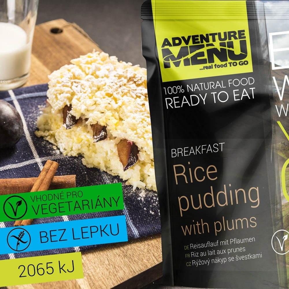 Rýžový nákyp se švestkami; Cestovní jídlo