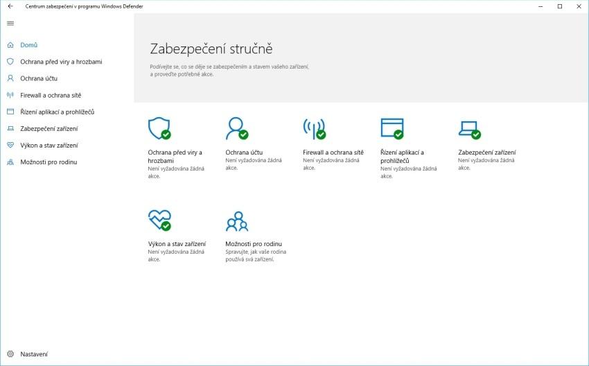 Čištění notebooku – Windows Defender