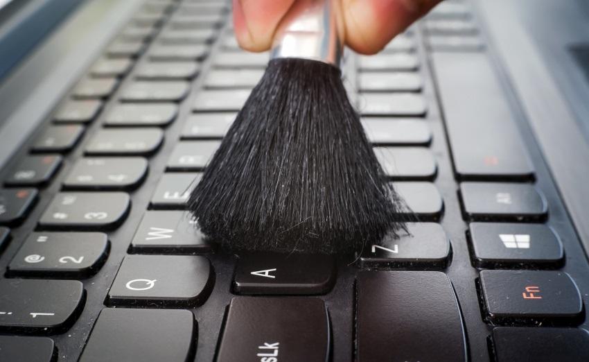 Čištění notebooku – klávesnice