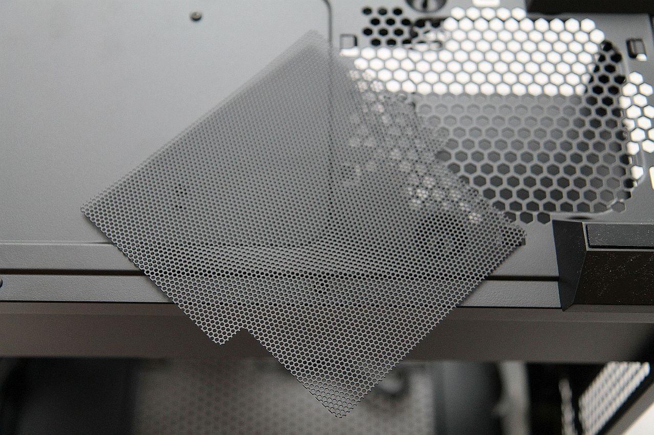 Cooler Master Masterbox MB500, recenze, PC skříň, filtry