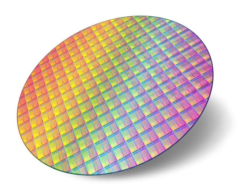 CPU wafer - thanks to the processor