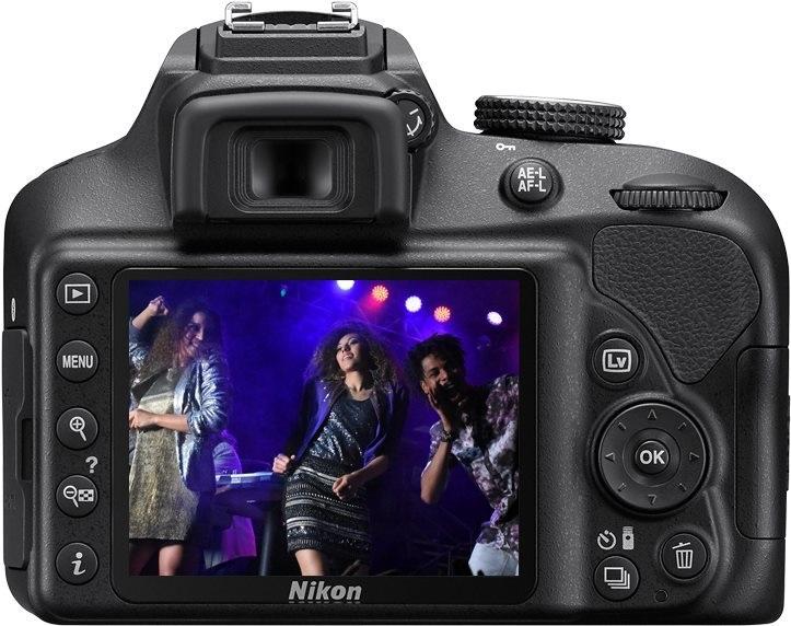 Nikon D3400 černý; displej