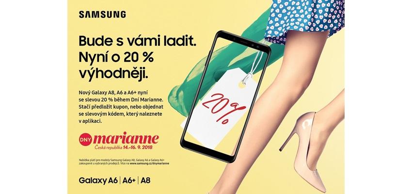 Dny Marianne. Získejte telefon Samsung se slevou až 20 %