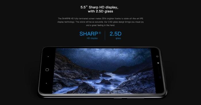 """Doogee Y6 Piano Black, 5,5"""" HD displej, 2.5D sklo"""