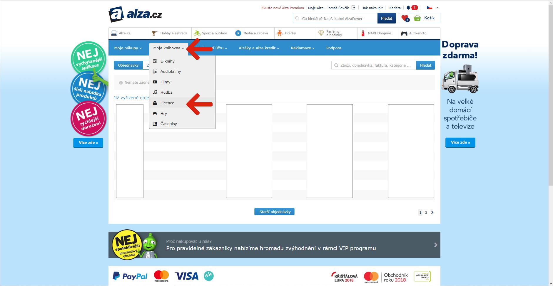 116b55afe53b1 Elektronické licence (NÁVOD): Jak je uplatnit? | Alza.cz
