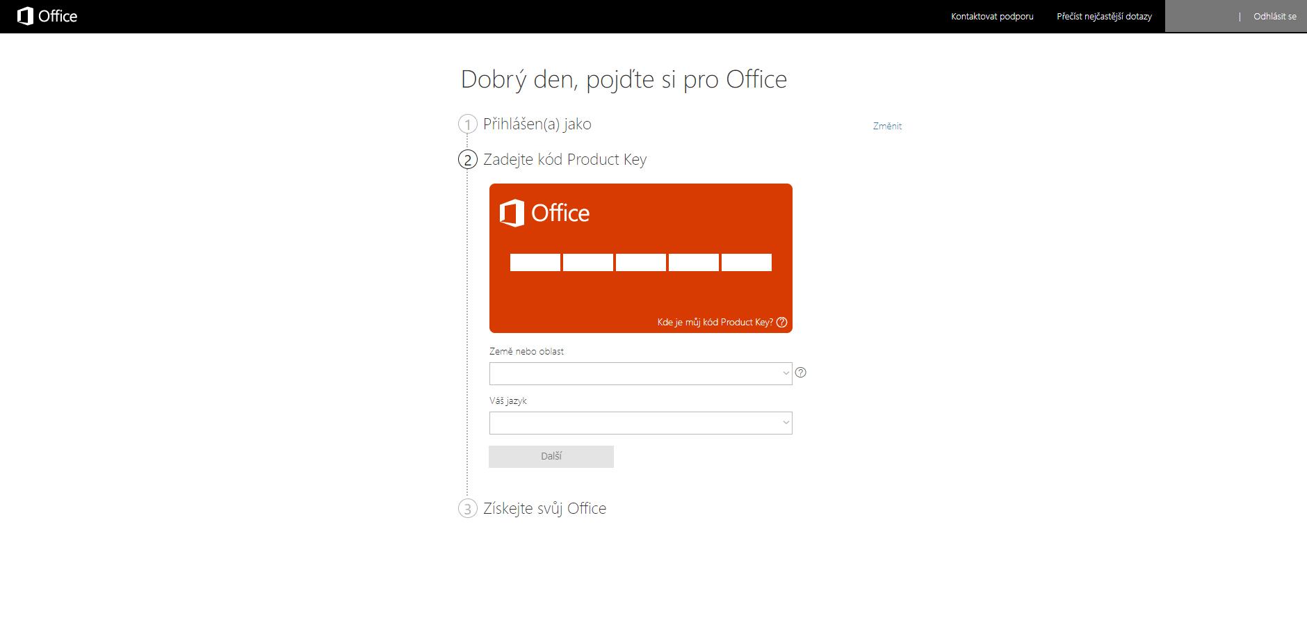 elektronická licence; návod; alza; Office