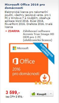 office, elektronická licence