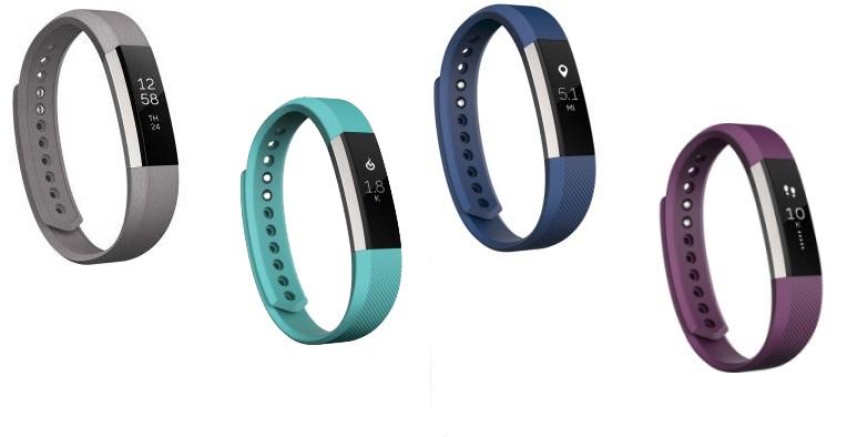 Fitbit Alta - black, teal, blue, plum