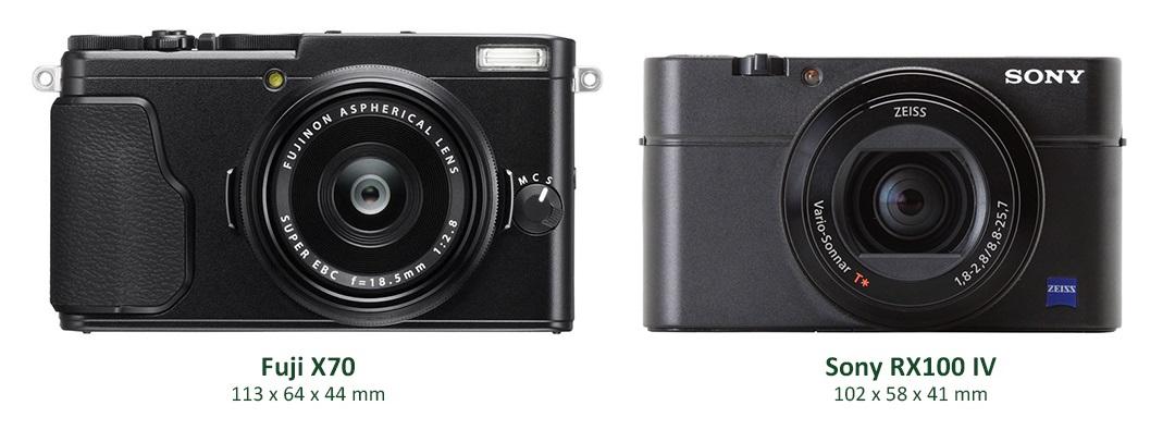 Fujifilm X70; Sony RX 100 IV; porovnání; srovnání
