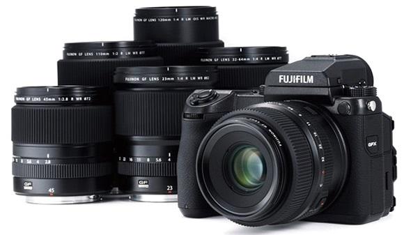 Fujifilm GFX 50S; středoformátový fotoaparát; objektivy