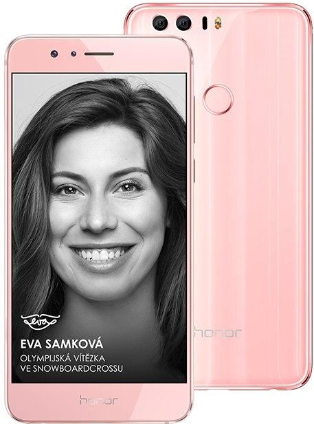 Honor 8 Premium Pink; Eva Samková
