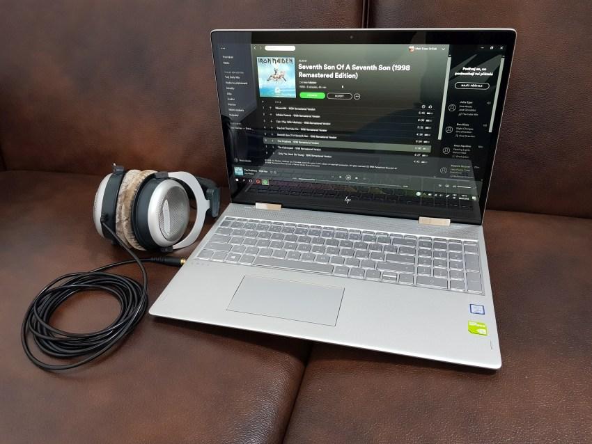 HP Envy 15 má kvalitní audio výstupy