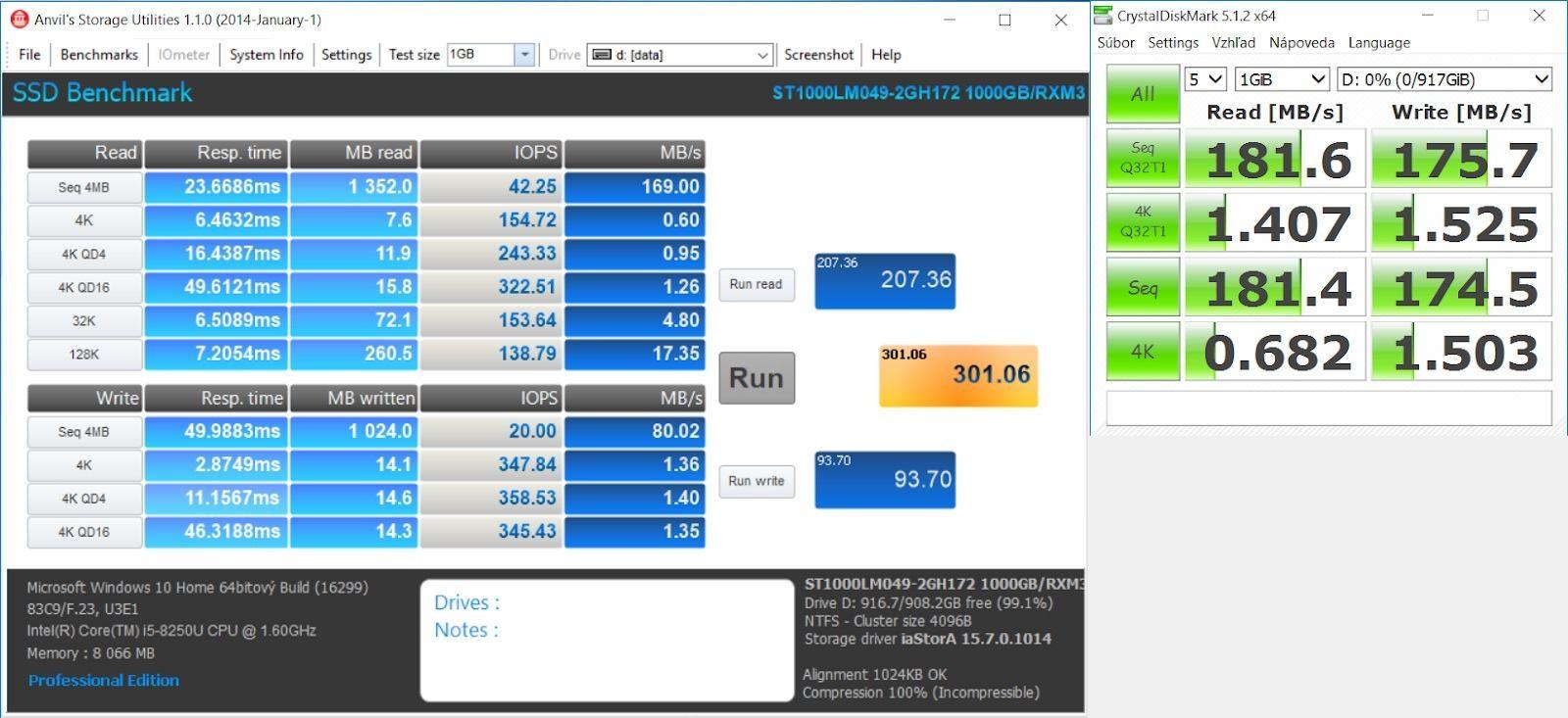HP Envy 15 – výkon HDD
