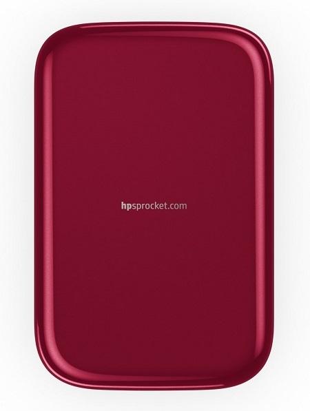 HP Sprocket; mobilní tiskárna; červená