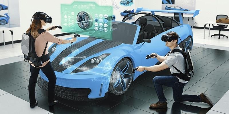 HP Z VR Backpack, člověk, auto, vr headset