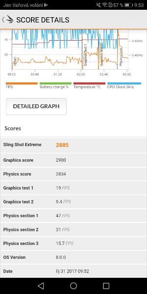 Huawei Mate 10 Pro výsledek v 3DMark